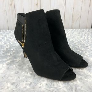 Marc Fisher Suede Black Booties Size 7.5
